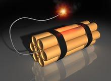 Dynamite prête à souffler Image libre de droits