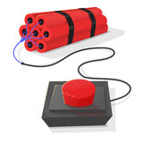 Dynamite and red detonator. Stock Photography