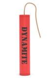 Dynamite rouge avec le signe de dynamite Photos libres de droits