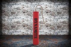Dynamite rouge avec le signe de dynamite Images stock
