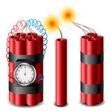 Dynamite set. With burning cord eps10 Royalty Free Stock Image