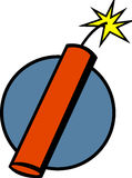 Dynamite stick or fireworks vector illustration. Vector illustration of a dynamite stick or fireworks Stock Photography