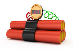 Dynamite with timer Royalty Free Stock Photo
