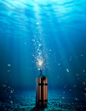Dynamite under the water Stock Image