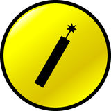 dynamite vector button Royalty Free Stock Photos