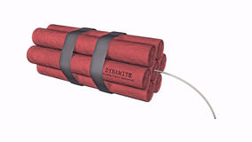 Dynamite on a white background Stock Photography