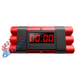 Dynamites Isolated. With digital clock on white background. Hires Royalty Free Stock Photo
