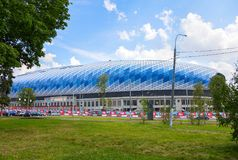 Dynamo football stadium in Moscow stock images