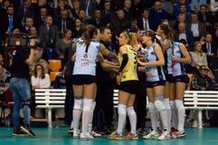 Dynamo Kazan team on timeout Royalty Free Stock Image