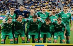 Dynamo Kiev contra Vorskla Poltava Foto de archivo libre de regalías