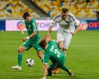 Dynamo Kiev contra Vorskla Poltava Fotografía de archivo