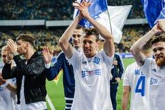 Dynamo Kiev contra Vorskla Poltava Fotos de archivo