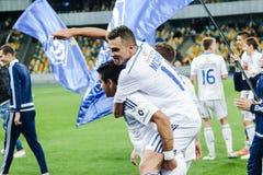 Dynamo Kiev contra Vorskla Poltava Fotografía de archivo libre de regalías