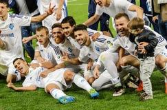 Dynamo Kiev contra Vorskla Poltava Imágenes de archivo libres de regalías