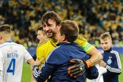 Dynamo Kiev contra Vorskla Poltava Fotos de archivo libres de regalías