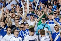 Dynamo Kiev contro Vorskla Poltava Fotografie Stock