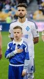 Dynamo Kiev gegen Vorskla Poltava Stockfotografie