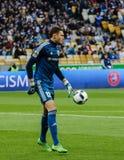 Dynamo Kiev versus Vorskla Poltava Stock Foto's