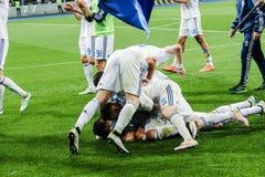 Dynamo Kiev versus Vorskla Poltava Stock Afbeelding