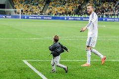 Dynamo Kiev versus Vorskla Poltava Stock Afbeeldingen
