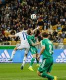 Dynamo Kiev versus Vorskla Poltava royalty-vrije stock foto's