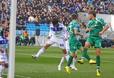 Dynamo Kyiv contre Karpaty Lviv Image stock