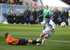 Dynamo Kyiv contre Karpaty Lviv Images libres de droits