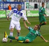 Dynamo Kyiv contre Karpaty Lviv Photos libres de droits