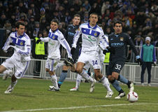 Dynamo Kyiv contre la ville de Manchester Photo stock
