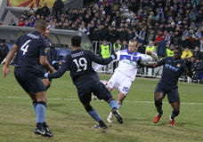 Dynamo Kyiv contre la ville de Manchester Images libres de droits