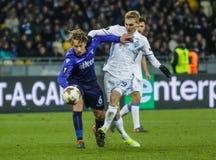 Dynamo Kyiv contre solides solubles Latium images stock