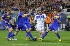 Dynamo Kyiv de FC contre le confit de FC Images libres de droits