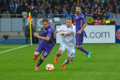 Dynamo Kyiv - Fiorentina. UEFA Europa League Stock Photos