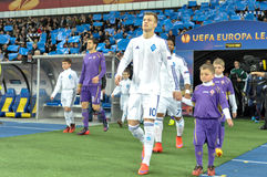 Dynamo Kyiv - Fiorentina. UEFA Europa League Royalty Free Stock Photos