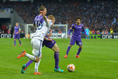 Dynamo Kyiv - Fiorentina. UEFA Europa League Stock Images