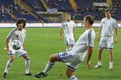 Dynamo Kyiv players Royalty Free Stock Photo