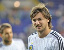 Dynamo Kyiv players Royalty Free Stock Images
