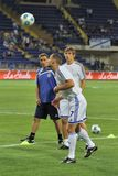 Dynamo Kyiv players Royalty Free Stock Photo