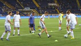 Dynamo Kyiv players Royalty Free Stock Photography