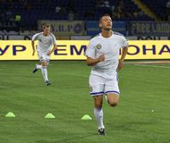 Dynamo Kyiv players Royalty Free Stock Photos