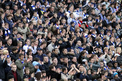 Dynamo Kyiv team supporters Stock Images