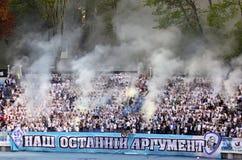 Dynamo Kyiv ultra supporters Stock Photo