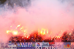 Dynamo Kyiv ultra supporters Royalty Free Stock Images