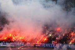 Dynamo Kyiv ultra supporters Stock Image