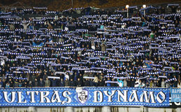 Dynamo Kyiv ultra supporters Stock Photo