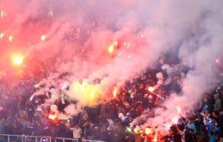 Dynamo Kyiv ultra supporters Stock Photography