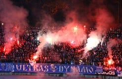 Dynamo Kyiv ultra supporters Stock Photos