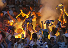 Dynamo Kyiv ultras Stock Photography