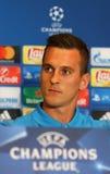 Dynamo Kyiv v Napoli de ligue de champions d'UEFA : presse-conférence de Pré-match Photos stock