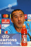 Dynamo Kyiv v Napoli de ligue de champions d'UEFA : presse-conférence de Pré-match Image stock